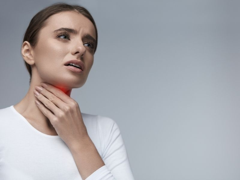voice disorders and hoarseness woman throat pain charlotte